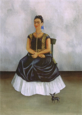 Frida Kahlo. Chinese crested dog with me