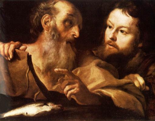 Gian Lorenzo Bernini. Saint Andrew and the Apostle Thomas