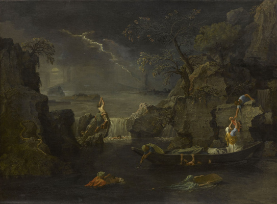 Nicola Poussin. Winter. The flood