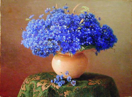 Gabriel Pavlovich Kondratenko. Still life with cornflowers