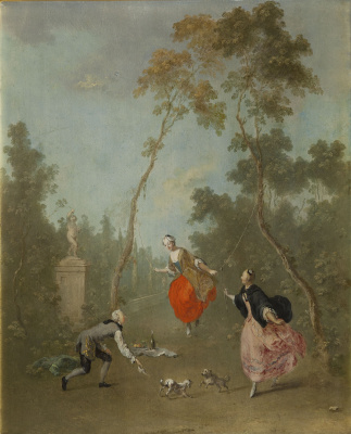Norbert Grund. Lady on a Swing – Gallant Scene I