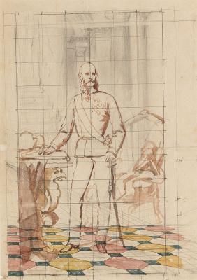 Набросок для портрета императора Франца Иосифа I Австрийского в униформе