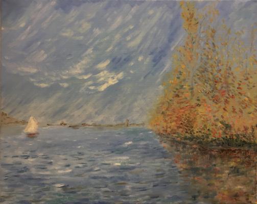 Mihails (Mikhail) Valentinovich Ribenko (Rybenko). Autumn on the river