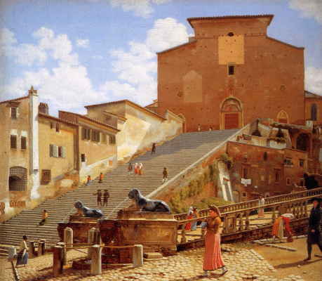 Christopher Wilhelm Eckersberg. The way to Santa Maria