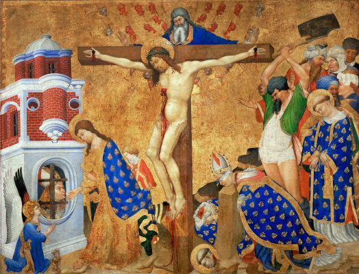 Henri Bellos. The Altar Of St. Denis. The last communion and martyrdom of St. Denis.