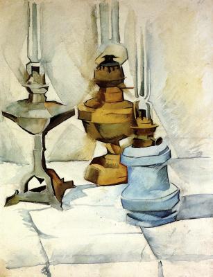 Juan Gris. Three lamps