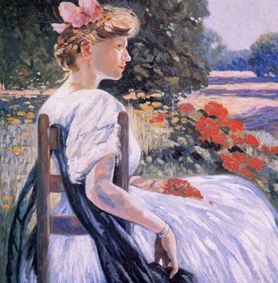 Елена Данлап. Девушка в саду