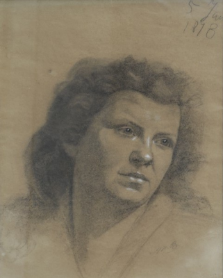 Мария Константиновна Башкирцева. Portrait of the artist's mother