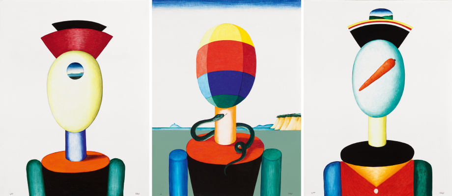 "Victor Dmitrievich Pivovarov. Triptych with a snake. Cycle ""Immortals"""