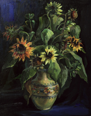 Svetlana Holodnyak. Sunflowers