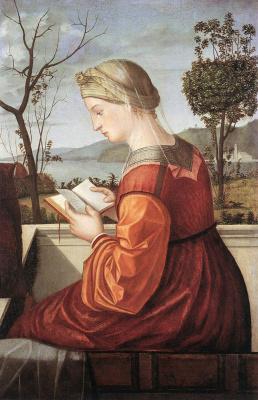 Vittore Carpaccio. The virgin reading