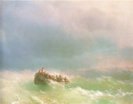 Ivan Aivazovsky. In a storm