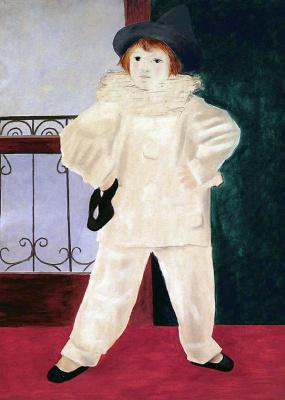 Пабло Пикассо. Поль в костюме Пьеро