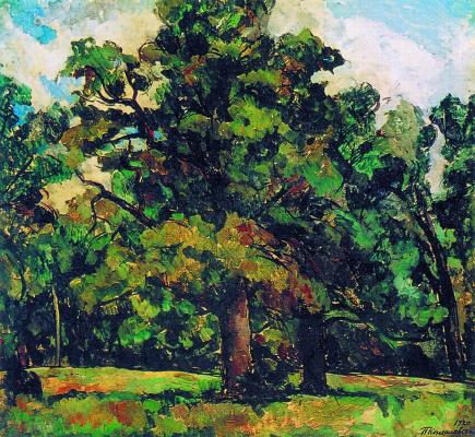 Petr Petrovich Konchalovsky. Abramtsevo. Oak grove