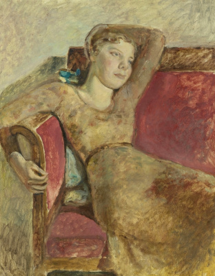 Balthus (Balthasar Klossovsky de Rola). Seated Girl (Portrait of Antoinette)