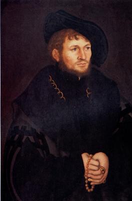 Lucas Cranach the Elder. Portrait background Cacarica