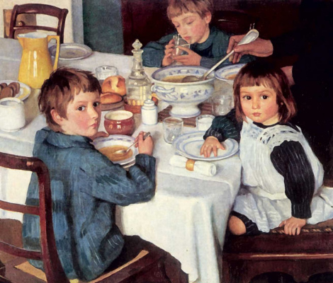 Zinaida Serebryakova. For Breakfast