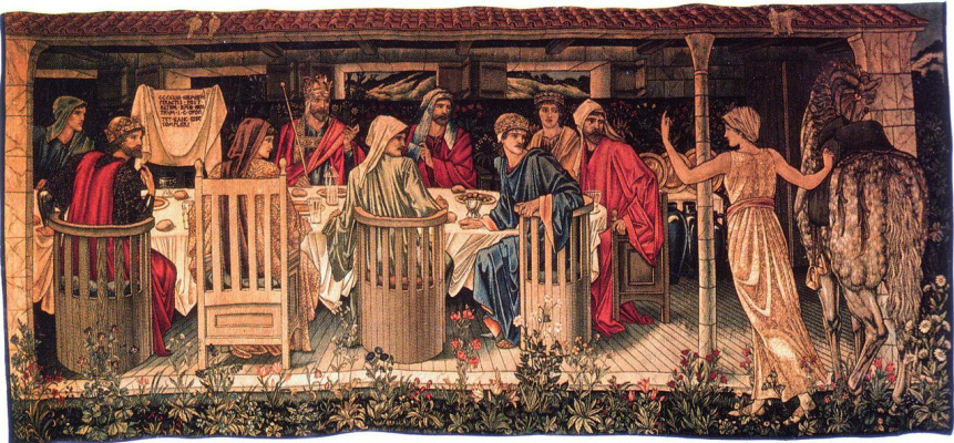 """William Morris. Series """"The Quest for the Holy Grail"""". Knights of the Round Table (Together with Edward Burne-Jones)"""