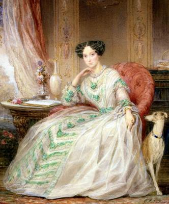 Кристина Робертсон. Портрет великой княгини Марии Александровны. 1850 34.2 x 24.6 см.