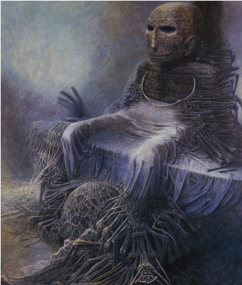 Zdzislaw Beksinsky. The plot 110