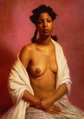 Патриция Уотвуд. Портрет девушки с обнаженной грудью