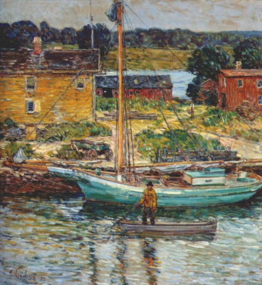 Childe Hassam. Ouster Sloop