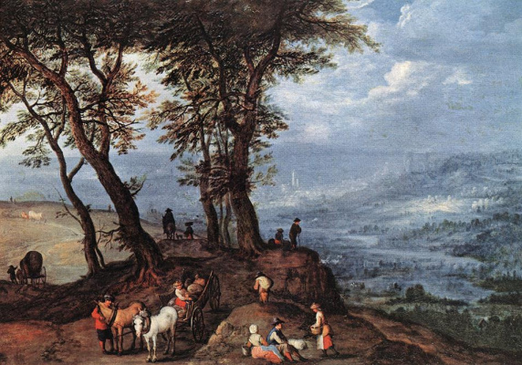 Jan Bruegel The Elder. On the way to market