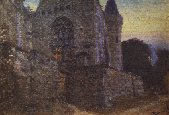 Vasily Dmitrievich Polenov. Abbey in Redon