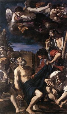 Джованни Франческо Гверчино. Мученичество Святого Петра