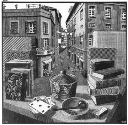 Maurits Cornelis Escher. Still Life and Street