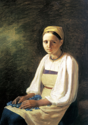 Alexey Gavrilovich Venetsianov. Peasant girl with cornflowers