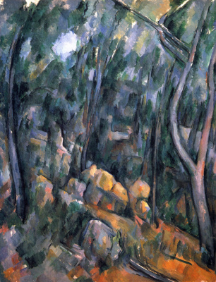 Paul Cezanne. Forest near the rocky caves above the Black castle