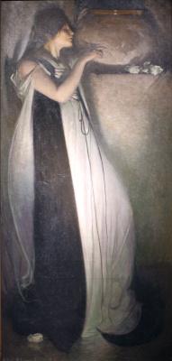Джон Уайт Александер. Изабелла и ваза с базиликом