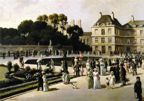 Jean-François Raffaelli. Luxembourg gardens
