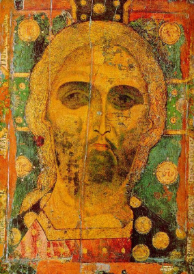 Icon Painting. The icon of the Saved Golden Vlas