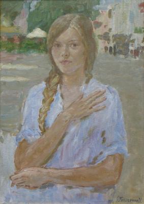 Сергей Витальевич Ткаченко. Портрет девушки