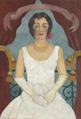 Frida Kahlo. Portrait of a lady in white