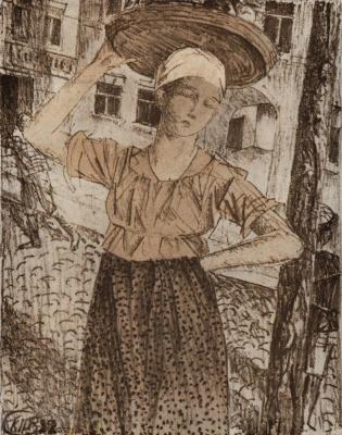 Kuzma Sergeevich Petrov-Vodkin. The peddler
