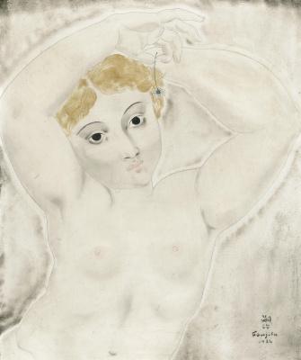 Zuguharu Fujita (Léonard Fujita). Nude study