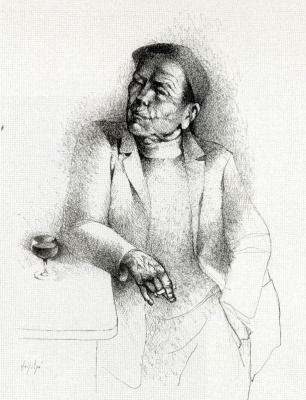 Мануэль Руис Пипо. Мужчина и бокал вина