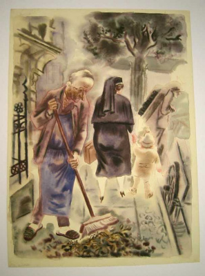 George Grosz. Cleaning