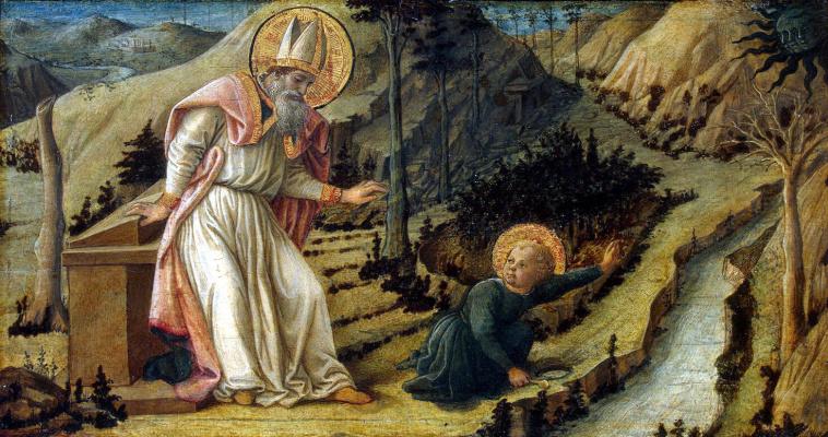 Fra Filippo Lippi. The vision of St. Augustine