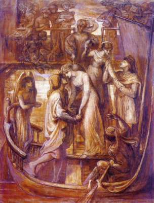 Dante Gabriel Rossetti. The love boat