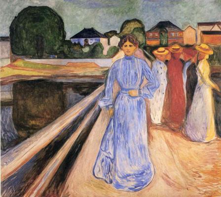 Эдвард Мунк. Женщины на мосту