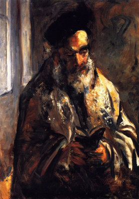 Lesser Ury. Jew in the prayer Cape