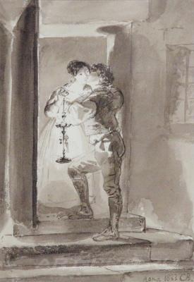 Karl Pavlovich Bryullov. First kiss