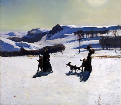 Rockwell Kent. A snowy field. Winter in Berkshire