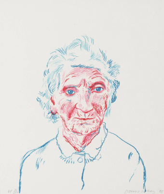 David Hockney. Portrait of Mother III