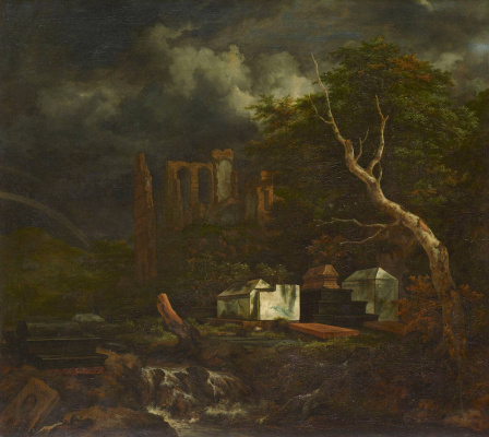 Jakob van Isaacs Ruisdael. Jewish cemetery