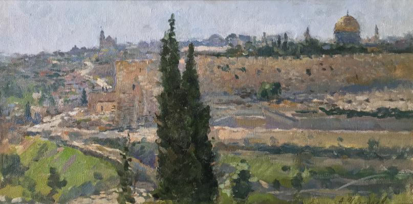 Aleksandr Chagadaev. View of jerusalem